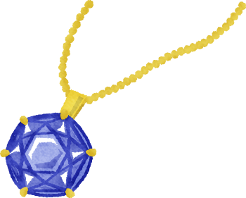 螺鈿ネックレスがキラキラ